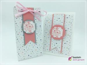 Karte & Geschenktüte mit Stampin Up Stanzbox Exquisite Etiketten