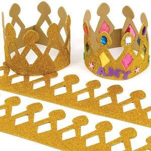 goldene Krone für Könige basteln