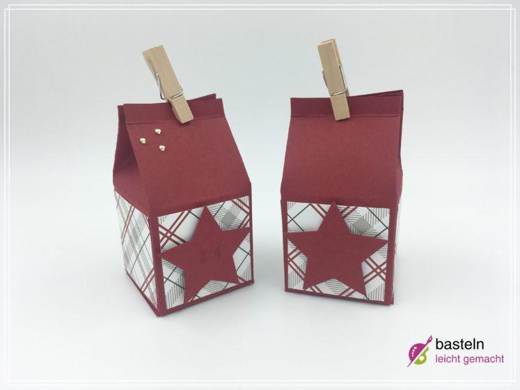 milchkarton verpackung basteln, auch als adventskalnder
