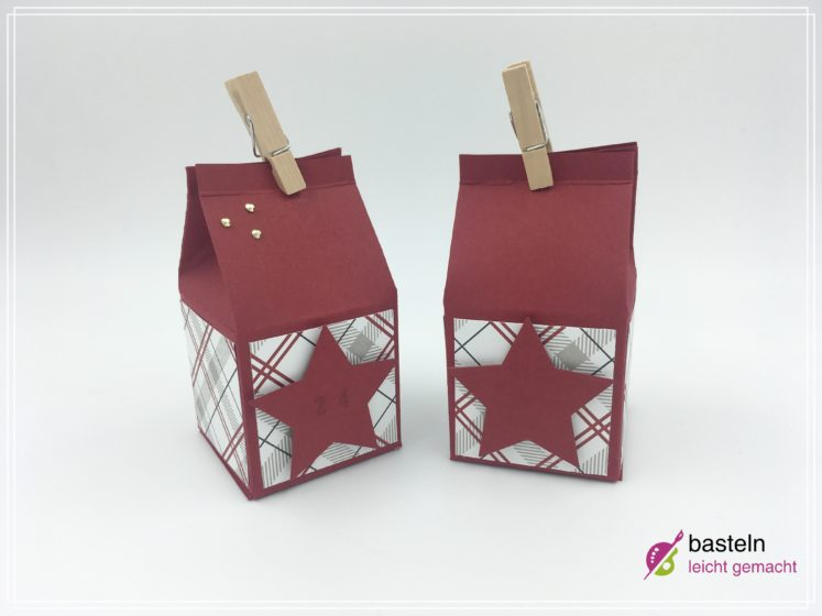 Berühmt Milchkarton Verpackung basteln 💁 Bastelanleitung Geschenkverpackung JE23