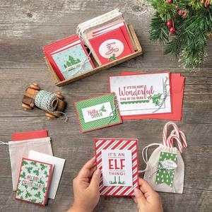 karten sortiment in der weihnachtswerkstatt