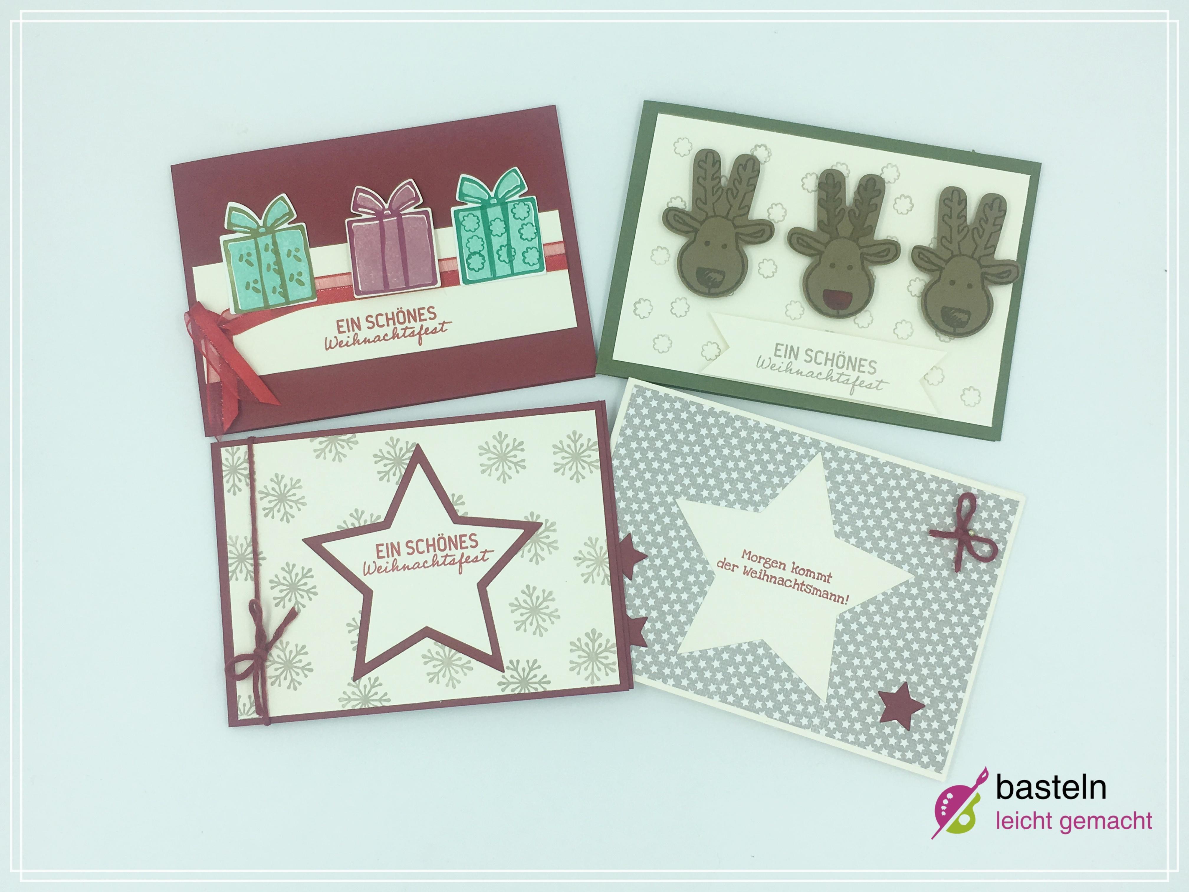 weihnachtskarten selber basteln 6 tolle ideen zum nachbasteln. Black Bedroom Furniture Sets. Home Design Ideas