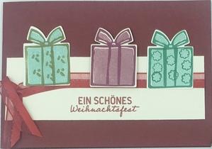 Bastelanleitung Weihnachtskarte basteln