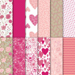 Designerpapier in Liebe