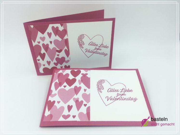 Valentinstag Karte Basteln Einfache Bastelanleitung Simplestamping